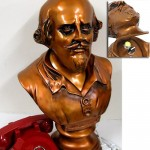 Shakespeare bust with hidden Bat-switch