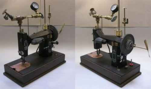 Steampunk sewing machine is functional