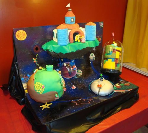 Awesome Super Mario Galaxy Cake