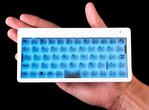 Tiny backlit wireless keyboard