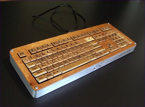 Homemade Scrabble keyboard