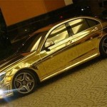 Gold-plated Mercedes-Benz C63 AMG