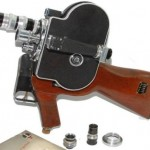 Gun camera for book depository type photography