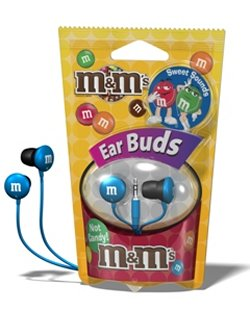 Maxell's M&M Earbuds will melt in your ears, not in your hand