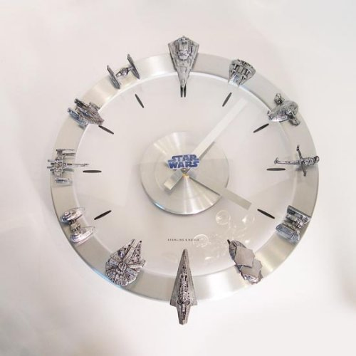 Star Wars clock has a starship on every hour