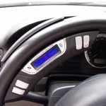 Car Bluetooth speaker fits inside your steering wheel