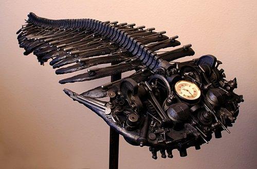 Trilobite clock combines Steampunk & fossils