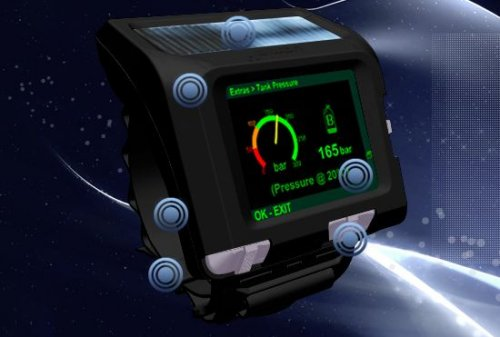Uemis Zurich scuba dive assistant with OLED display
