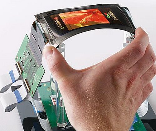 Wrist-worn flexible OLED prototype
