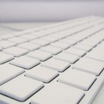 The all-white Apple keyboard