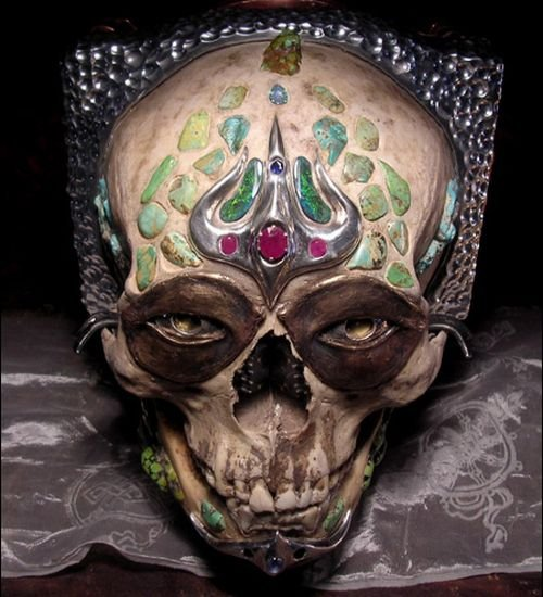 $5,000 Pinhole camera made from human skull