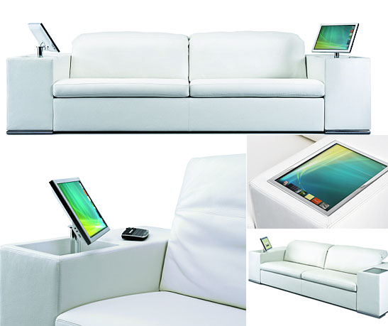Athena Multimedia Sofa with integrated computer