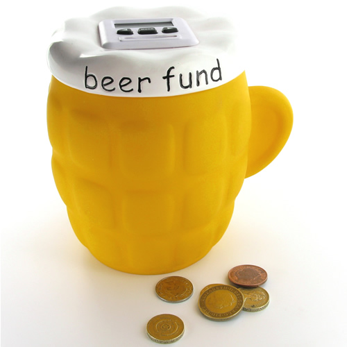 Beer Fund bank, always has beer money