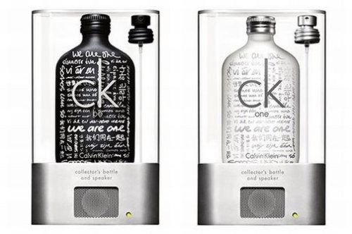 Calvin Klein MP3 speaker bottle