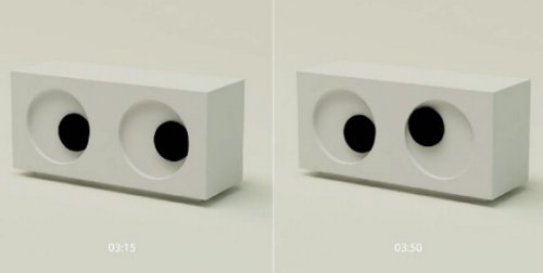 Googly-eyed clock tells time with googly-eyes