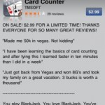 Card counting iPhone app is a felony in Vegas