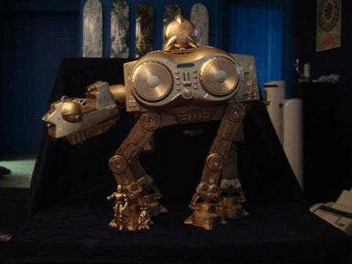 Golden AT-AT Walker iPod dock
