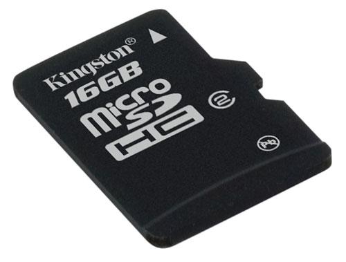 Kingston 16GB microSDHC Card