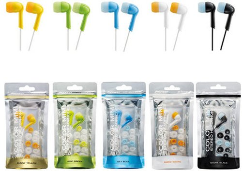 Pioneer Color Mimi earphones