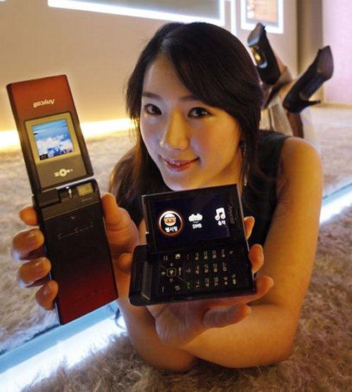 "Samsung SPH-W6450 the ""OZ Double Folder Phone"""