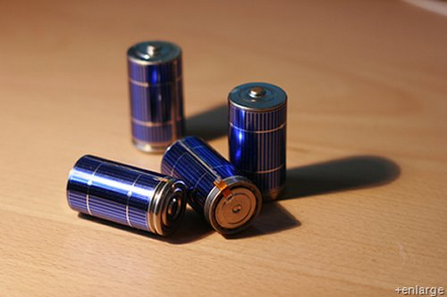 Make your own solar rechargeable batteries