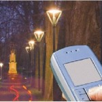 Phone controlled street lights save energy