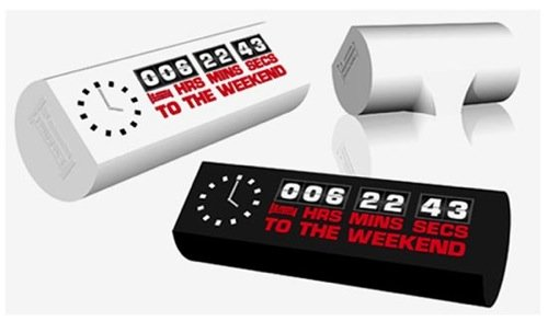 Weekend Clock counts down to the weekend