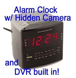 Alarm Clock Spy Cam