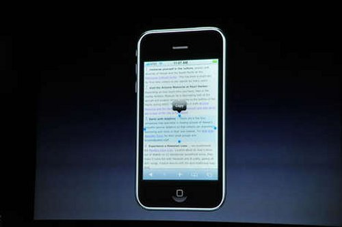 iPhone 3.0 features cut-and-paste, a whole lot more