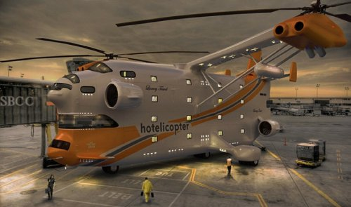 The Hotelicopter: World's First Flying Hotel