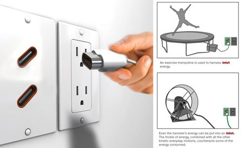 The Inlet-Outlet: Harnessing energy from your daily life