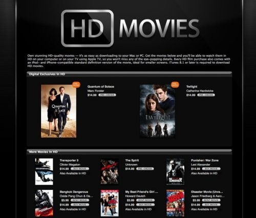 Apple adds HD video purchases to iTunes store