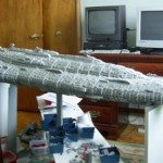 7 foot long LEGO Star Wars Mon Calamari cruiser