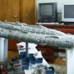 7 foot long LEGO Star Wars Mon Calamari cruiser