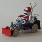Mario Kart sculpture made with office supplies