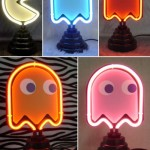 Neon Pac-Man lights