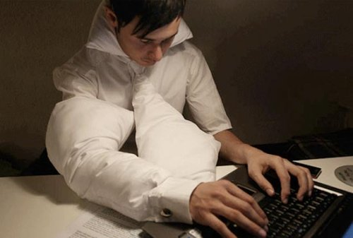 Pillow-filled clothing for those late nights at the office