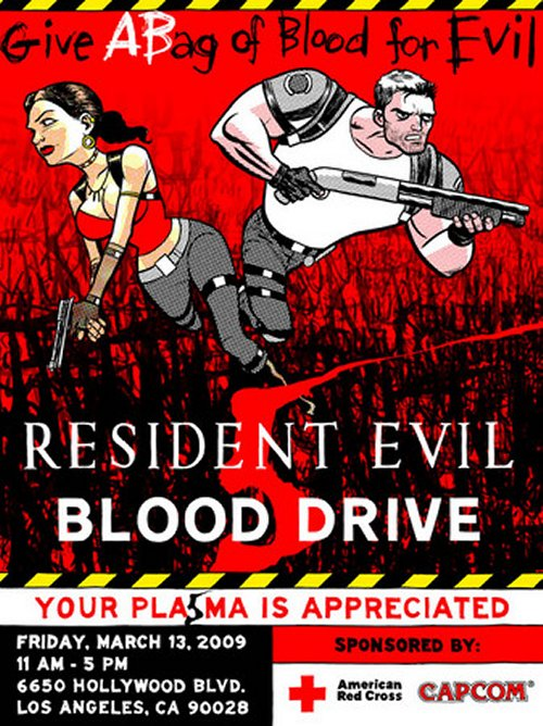 Resident Evil / Red Cross blood drive