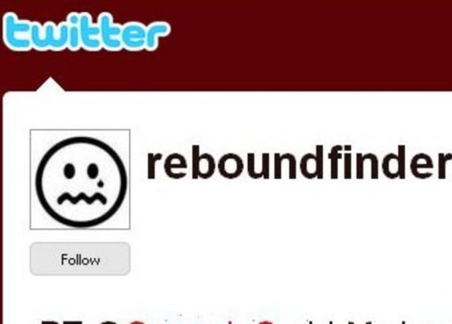 Reboundfinder twitter tool finds the recently dumped