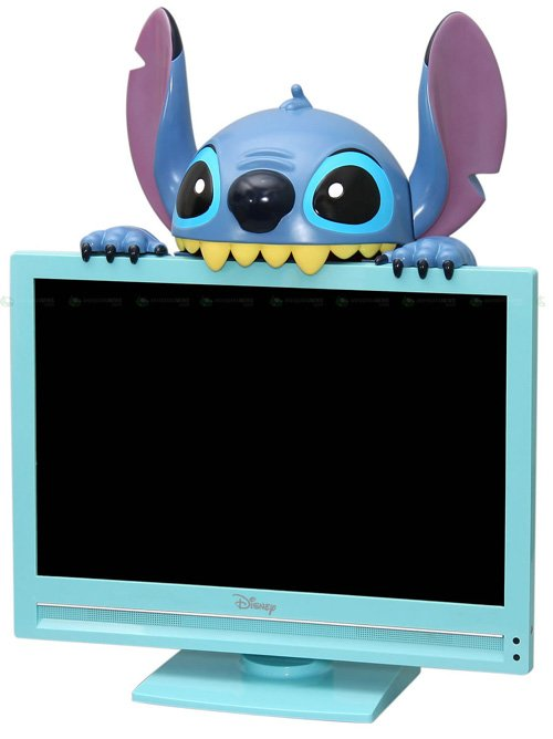 Stitch takes a bite out of an LCD Display