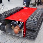 Robotic Crawler carries you away in an earthquake