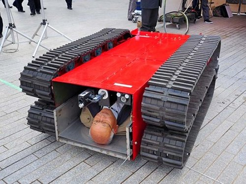 Robotic Crawler carries you away in an earthquake