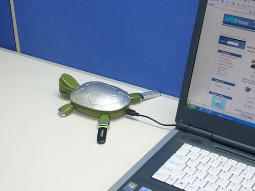 Gadget cruelty: Turtle USB hub