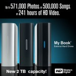 Western Digital My Book hits 2TB with one disk