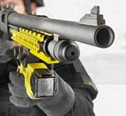 Wireless X12 stun gun paralyzes targets from 88 feet away