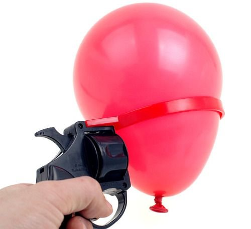 The Balloon Gun lets you safely practice Russian Roulette