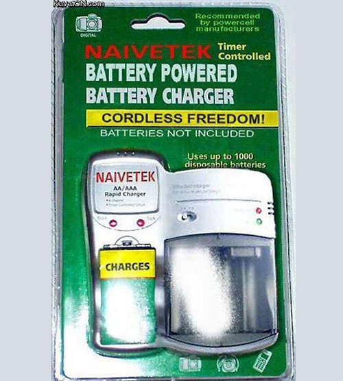 Battery powered battery charger