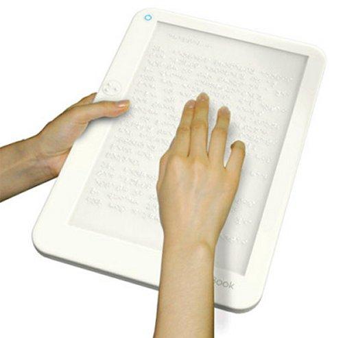 Braille e-book concept