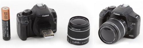 Mini Canon EOS 450D is a USB flash drive