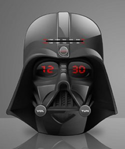 Wake up to Darth Vader's head
